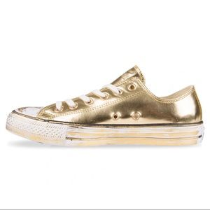 Metallic Gold Converse Sneakers